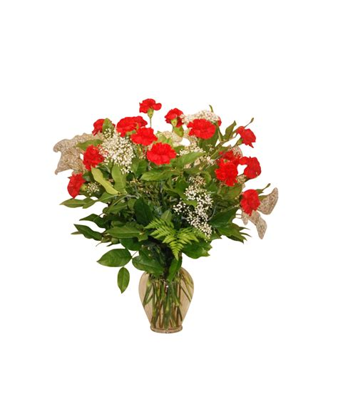 Table Flower Arrangements 5500 Gt Vase Arrangement 24 Carnations