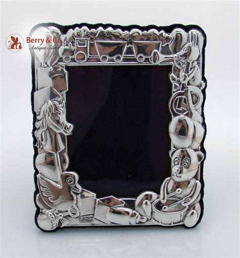 Terlaris Frame 6275 Box sterling silver figural baby picture frame berry company antique silver ruby