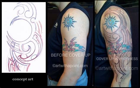 tribal armband tattoo cover up with a point 187 tribal cover up custom studio