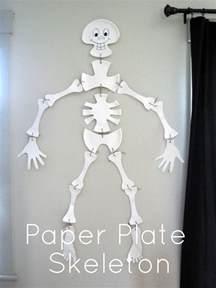 skeleton template some creativity paper plate skeleton tutorial