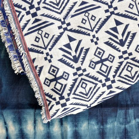 tribal pattern material geometric fabric woven cloth aztec tribal mexican