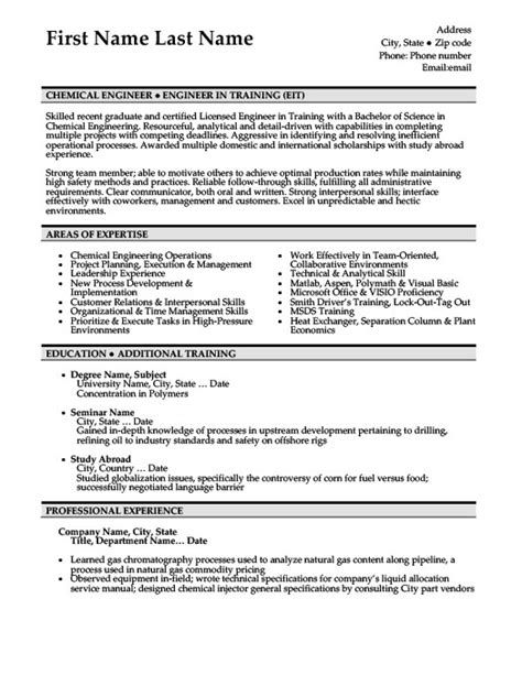 Resume Sle For Chemistry Chemical Engineer Sle Resume Haadyaooverbayresort 28 Images Chemical Engineering Resume