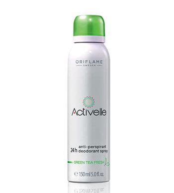 Activelle Anti Perspirant Deodorant Oriflame لیست قیمت oriflame activelle green tea fresh anti perspirant 24h deodorant spray ترب