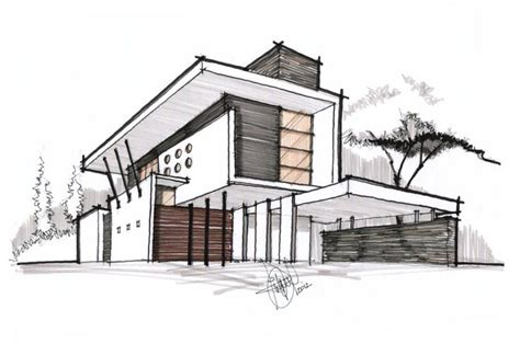 house sketch perspective colors line for deffirent materials3 mauro