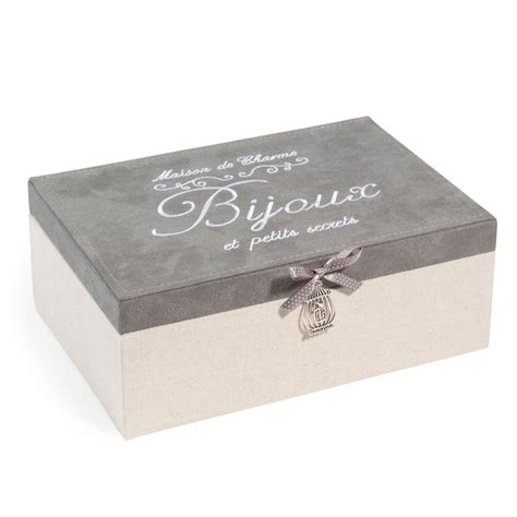 bo 238 te 224 bijoux en tissu beige et grise h 9 cm secrets