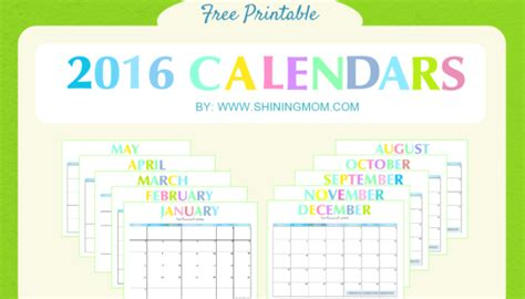 2016 calendar free printable this little street shining mom enjoying the little things