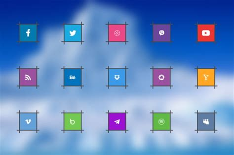 social media icons psd vector eps format