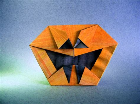 Pumpkin Origami - this week in origami 2015 edition
