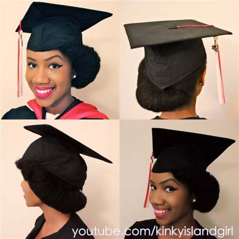 graduation hairstyles natural hair the perfect graduation cap style for natural hair black
