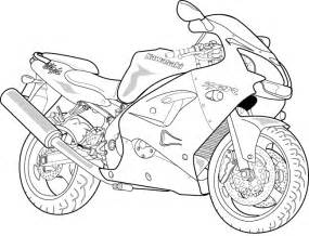 Motorcycle Outline Drawing sketch template