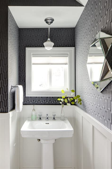 What Color White To Paint Cabinets Powder Room Decor Ideas Powder Room Traditional With