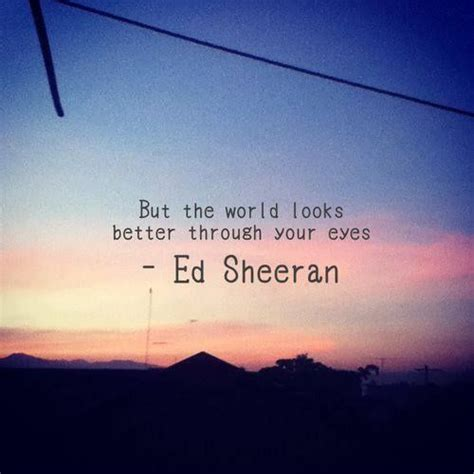 ed sheeran one lyrics terjemahan