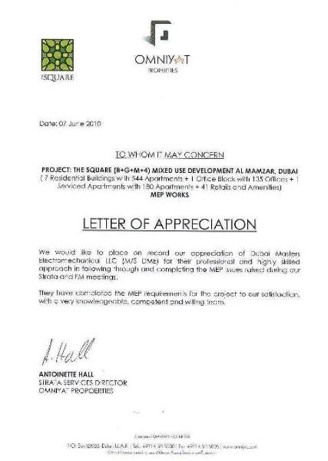 appreciation letter sle for contractor appreciation letter to contractor 28 images office