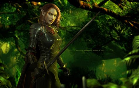 elven wallpaper background wallpaper elf warrior sword armor forest desktop