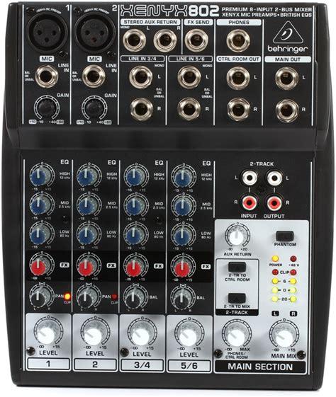 Mixer Behringer Xenyx 802 behringer xenyx 802 pa mixer 8 channel dj city