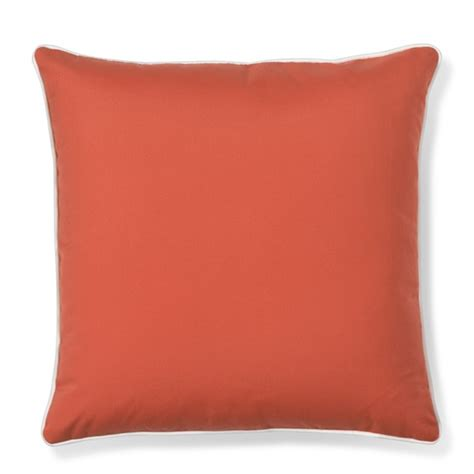 outdoor solid pillow cover with piping melon williams