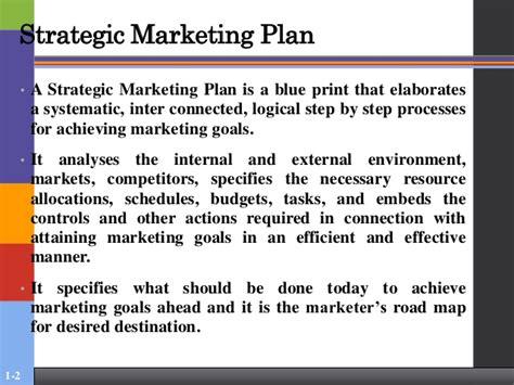 Strategic Marketing strategic marketing planning organisation