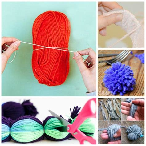 learn how to make pom poms and craft decorative items from them how to make a pom pom 7 techniques red ted art s blog