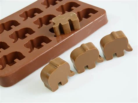 Silicone Chocolate Mould Tablette elephant chocolate mold cupcakes topper silicone bakeware mould sugarpaste ebay