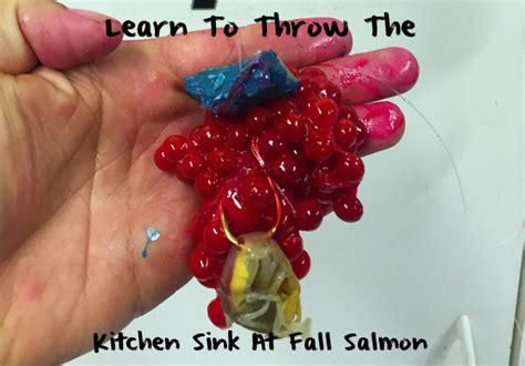 Throw In The Kitchen Sink Learn To To Throw The Kitchen Sink At Salmon Pautzke Bait Co