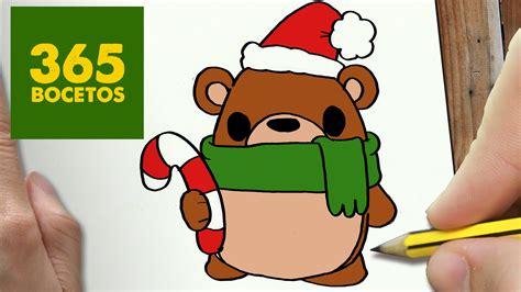 imagenes kawaii osos como dibujar un oso para navidad paso a paso dibujos