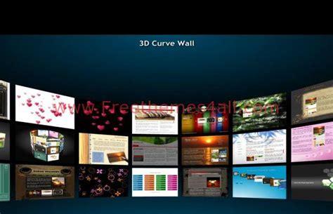 free dark 3d black photos gallery flash template