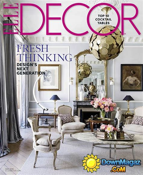 home decor magazines usa elle decor usa may 2016 187 download pdf magazines
