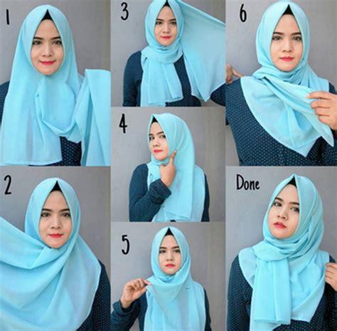 tutorial jilbab segi empat simple dan elegan tutorial hijab pashmina simple nan cantik dan elegan