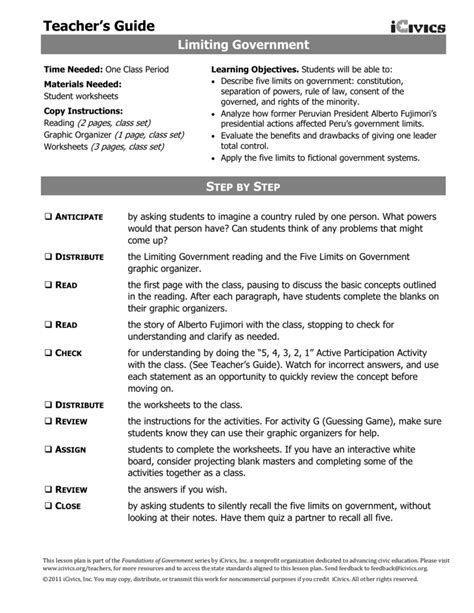 Limiting Government Worksheet Answers limiting government worksheet answers the best and most