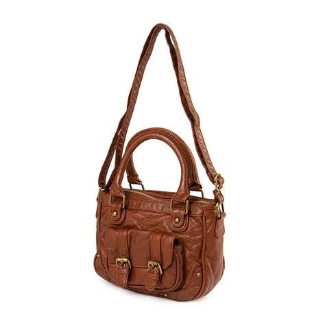 Faux Leather Satchel Bag a leather bag faux leather crossbody satchel bag