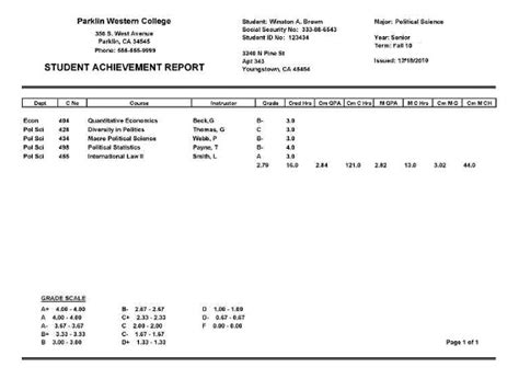 college report card template college report card template search engine at