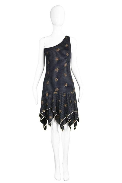 Who Wore It Better Emanuel Ungaro One Shoulder Sequin Dress by Emanuel Ungaro One Shoulder Black And Gold Dress