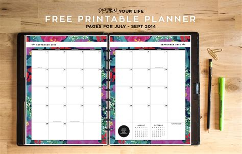 free printable organizer planner 2015 8 best images of free printable 2016 planners and