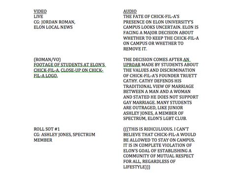 news script template television news broadcast script media writing