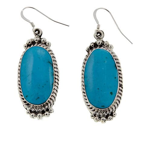 Chaco Canyon Kingman Turquoise Sterling Silver Drop Earrings   8759852   HSN