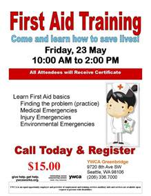 first aid training class visit white center