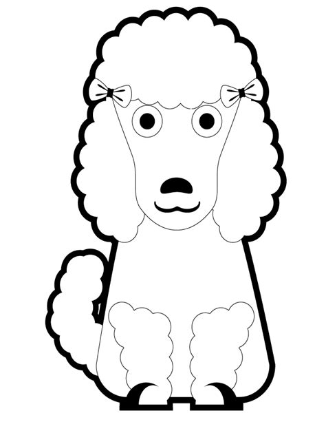 poodle coloring pages