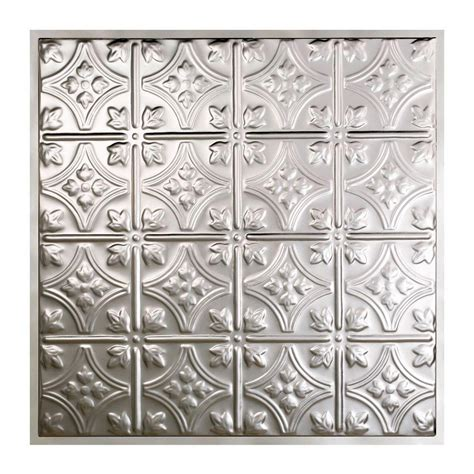 Great Lakes Tin Hamilton 2 Ft X 2 Ft Lay In Tin Ceiling Lay In Ceiling Tile