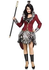Ring Mistress Halloween Costume Women Freak Show Ringmistress Costume