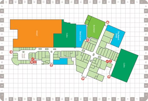 Westfield Floor Plan by Map Ingle Farm Shopping Centre