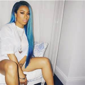images of frankies hair keisha coes keyshia cole debuts bold blue hair color the style news