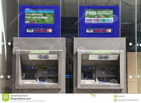 halifax bank locations bank atms editorial image image of britain city united