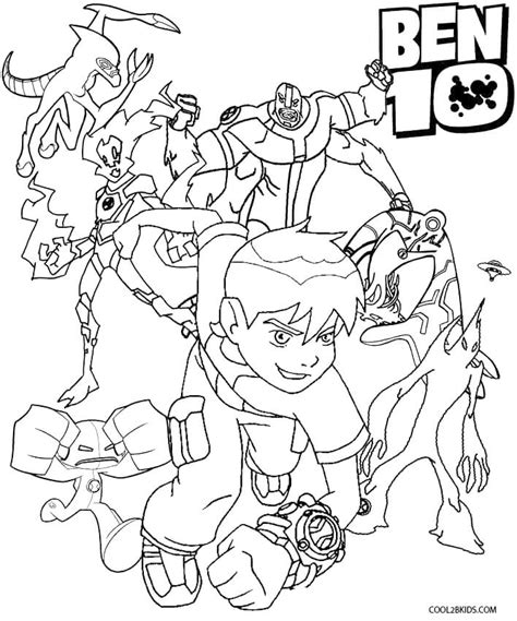 pages ben 10 ultimate free coloring pages of ben10 four arms
