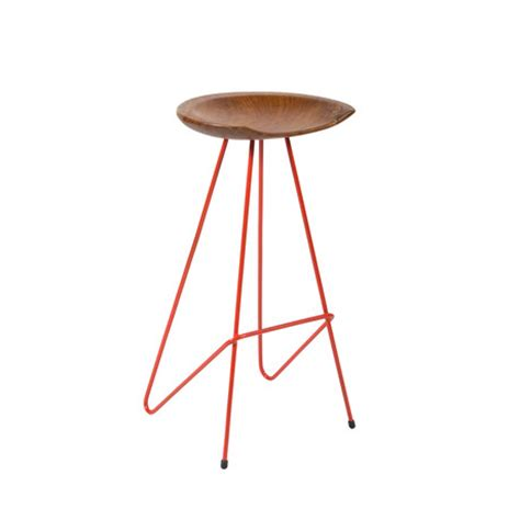 perch bar stool tomato fromthesource touch of modern