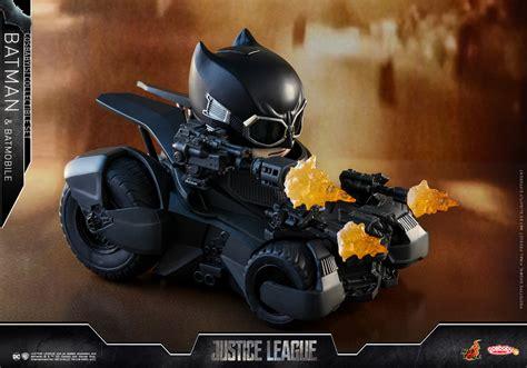 Cosbaby Armored Batman Matte Black From Hottoys justice league batman batmobile cosbaby s collectible set figures