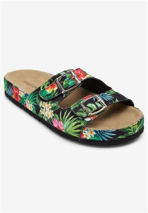 maxi footbed sandal by comfortview 174 plus size sport sandals