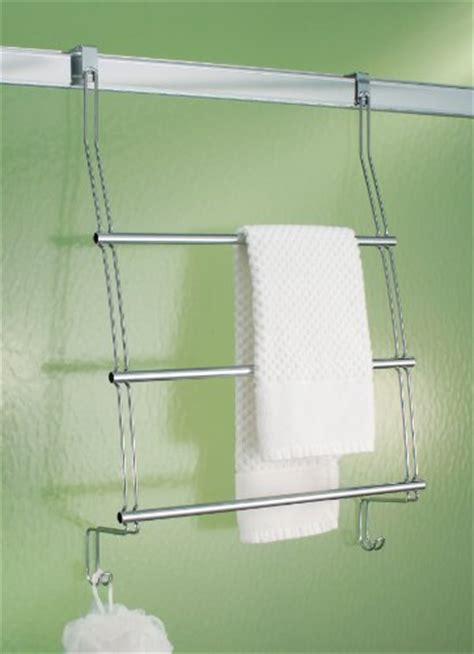 Interdesign Classico Over The Shower Door Towel Rack New Door Shower Rack