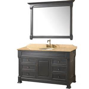 55 bathroom vanity cabinet 55 quot andover 55 black bathroom vanity bathroom vanities