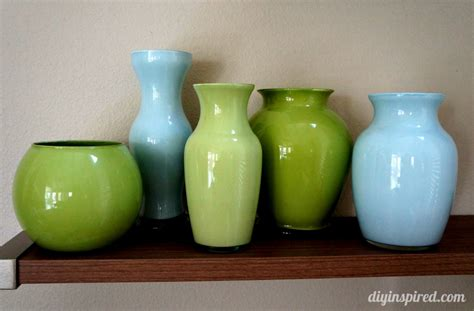 How To Paint Inside Glass Vases by Painted Colored Glass Vases Diy Inspired