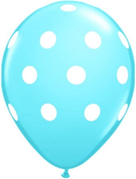 Balon Dot Baby baby blue polka dot balloons